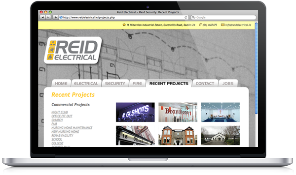 Reid Electrical website